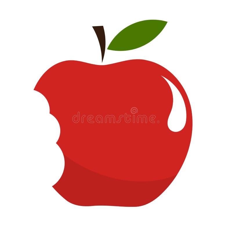jabłko gryźć ilustracja wektor