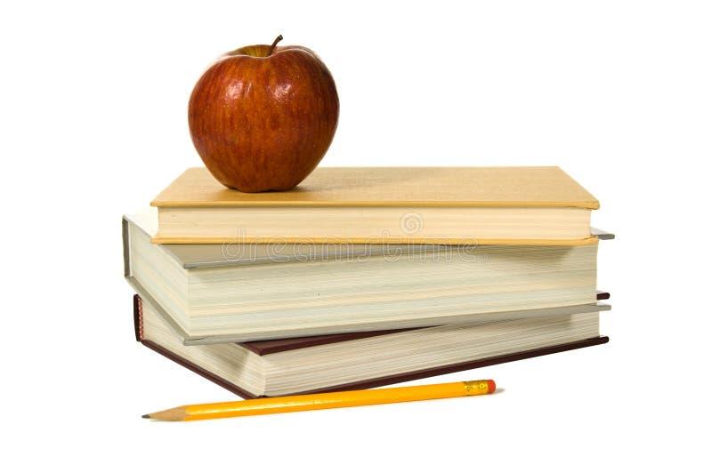 jabłko książek do szkoły fotografia royalty free