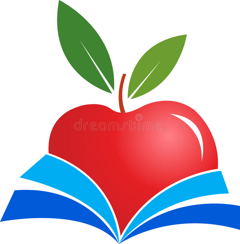 jabłko książka royalty ilustracja