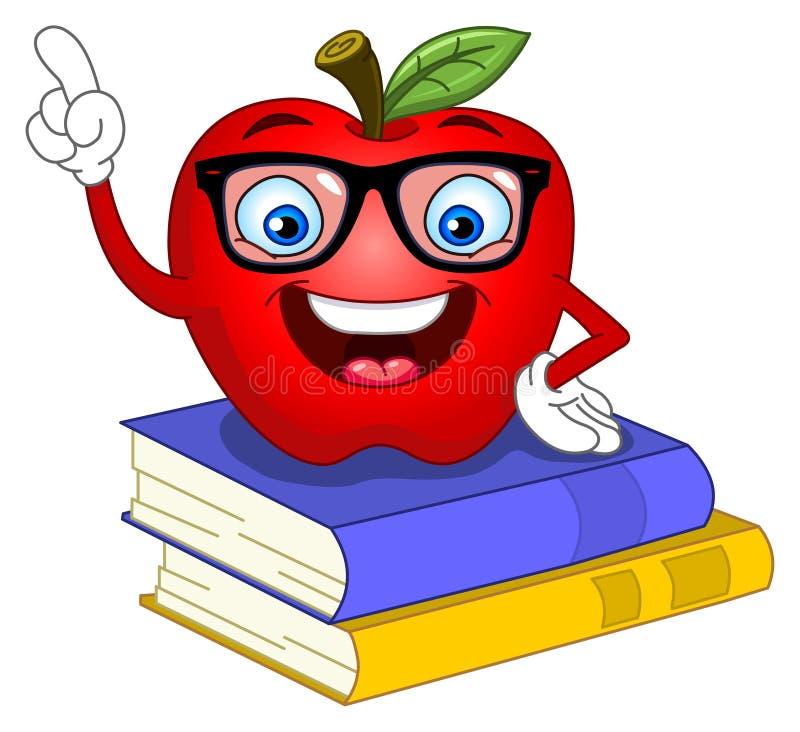 jabłko mądrze ilustracja wektor