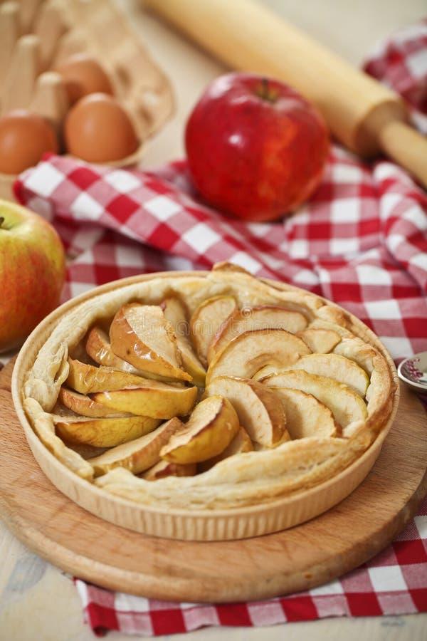 jabłko piec świeżo domowej roboty kulebiak fotografia royalty free