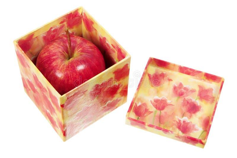 jabłko prezent pudełkowaty galowy obraz stock