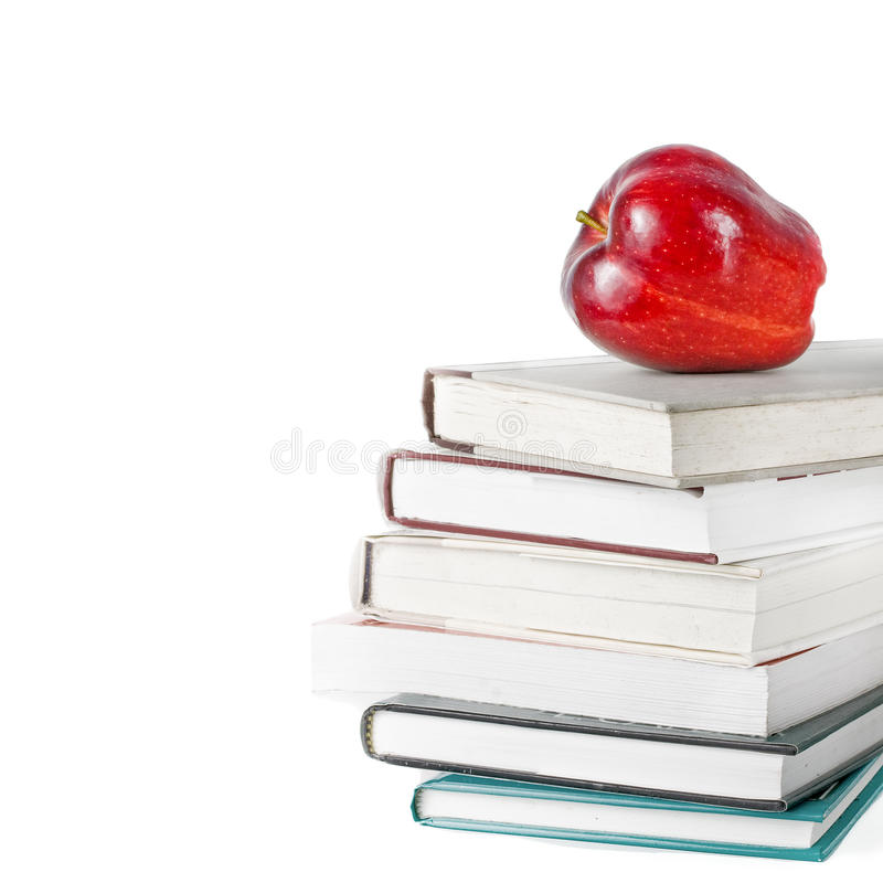 jabłko rezerwuje pojęcie edukację fotografia stock