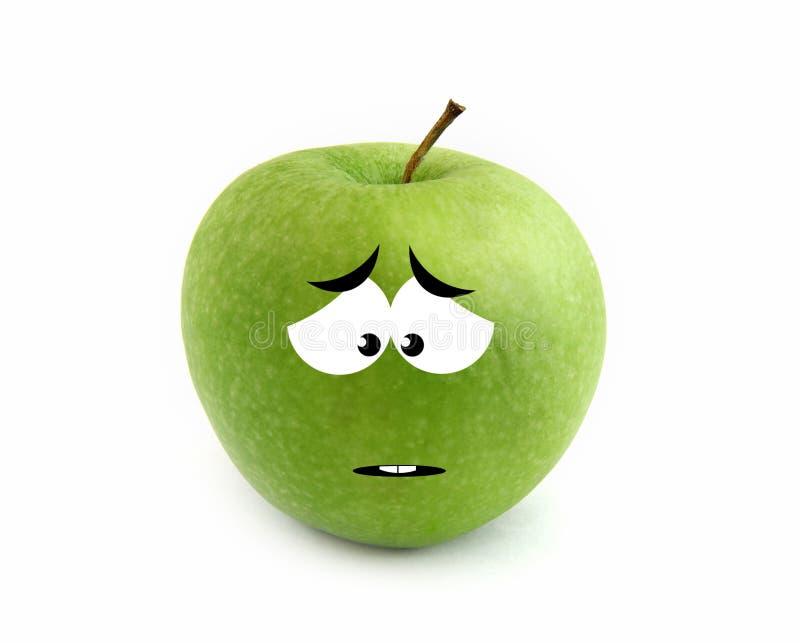 jabłko smutny ilustracja wektor