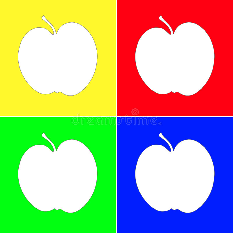 jabłko sztuka ilustracja wektor