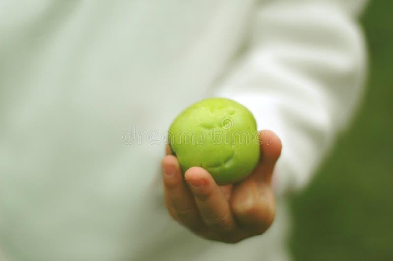 jabłko ugryzł dziecko obrazy stock