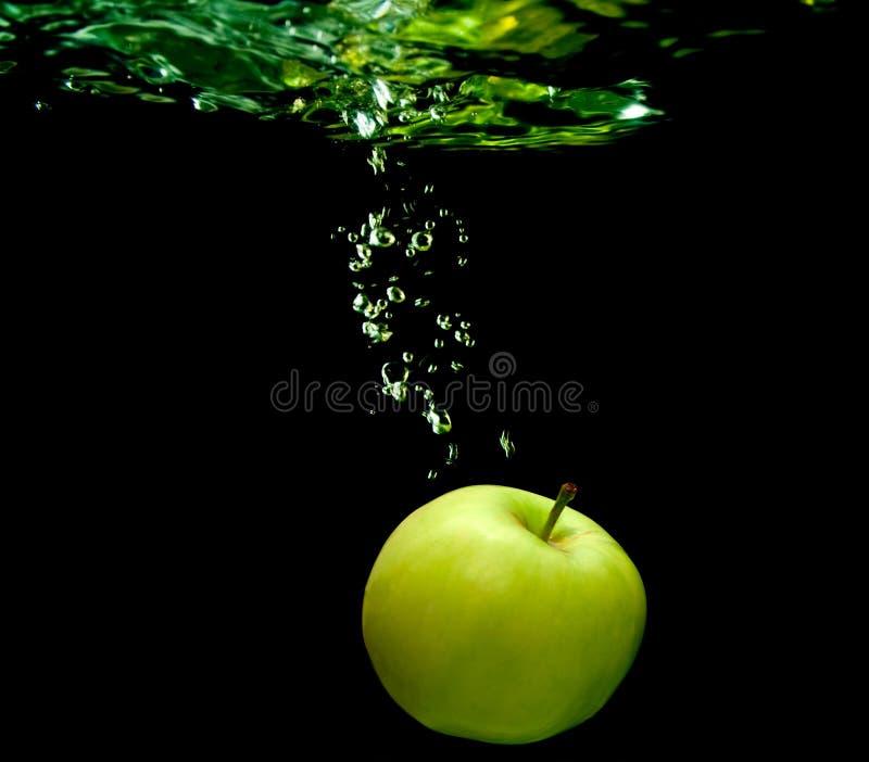 jabłko woda obraz stock