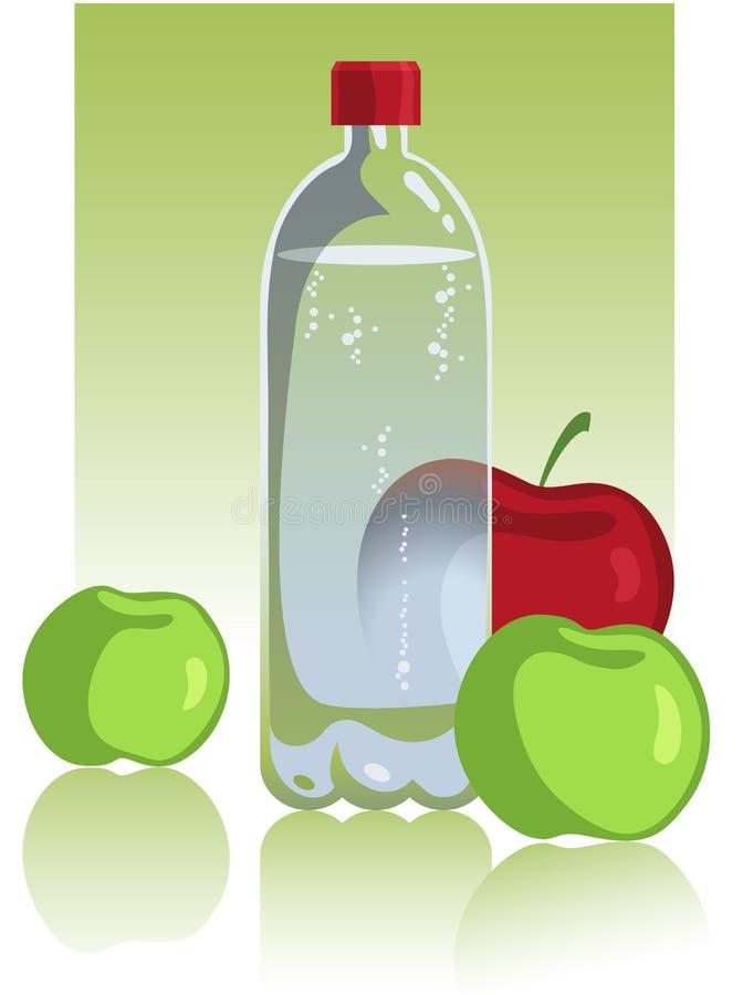 jabłko woda mineralna royalty ilustracja