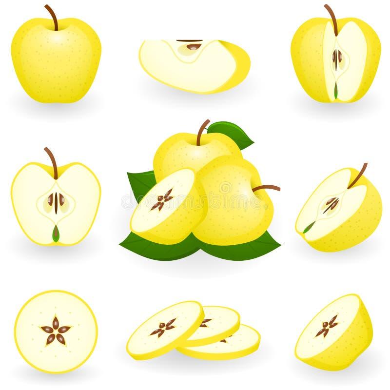 jabłko złoty royalty ilustracja