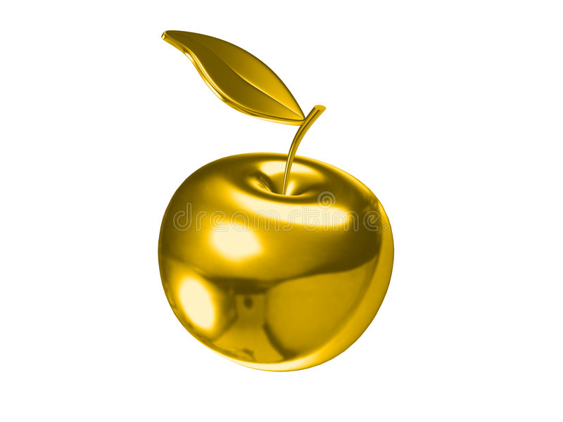 jabłko złoty obraz royalty free