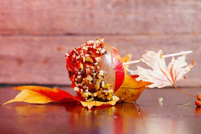 Jabłko z czekoladą obrazy royalty free
