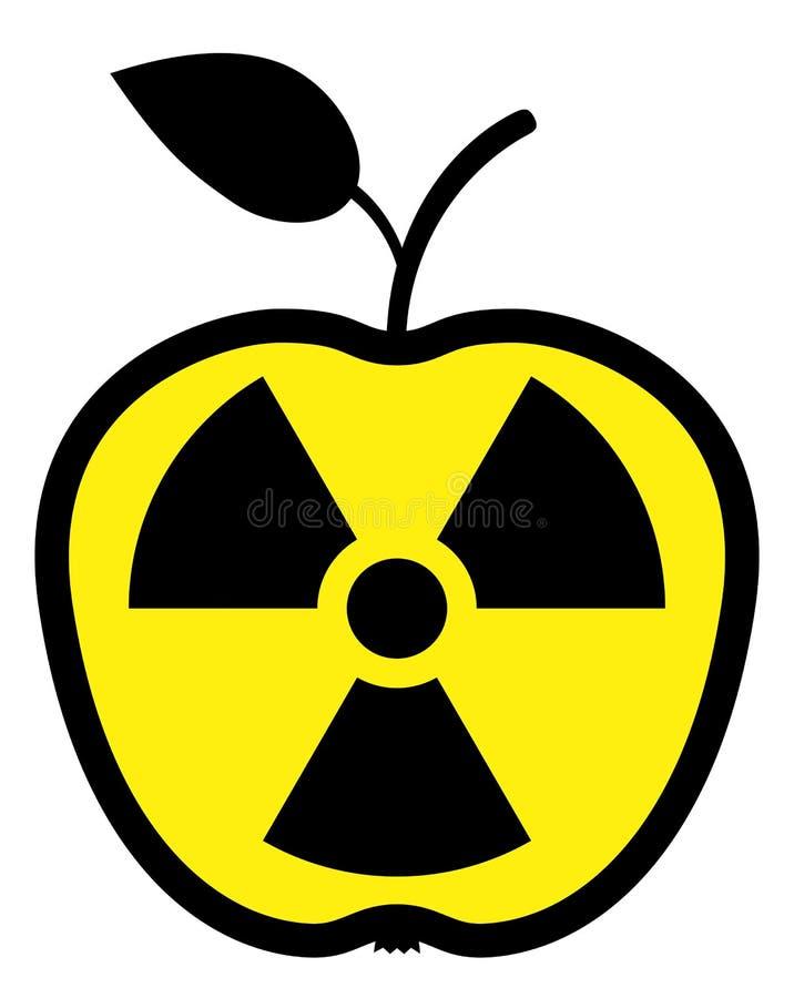 jabłko zanieczyszczający napromienianie royalty ilustracja