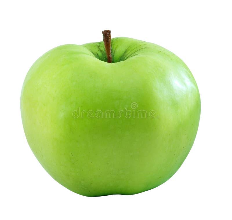 jabłko - zieleń odizolowywał obrazy stock