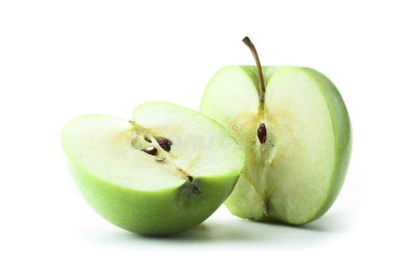 jabłko - zieleń pokrajać zdjęcie royalty free