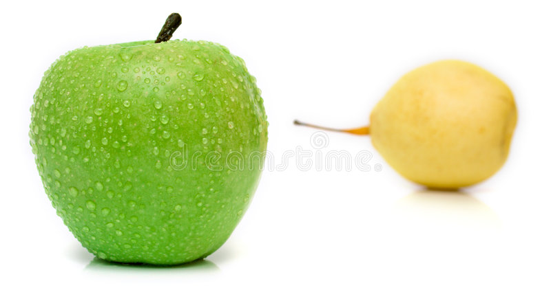 jabłko - zielona bonkreta obraz stock