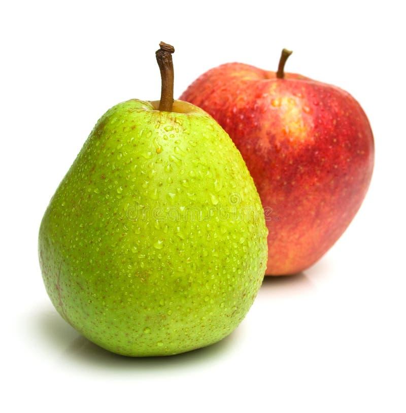 jabłko - zielona gruszki czerwony zdjęcie stock