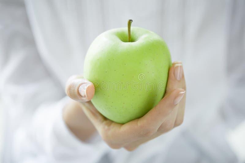 jabłko - zielony zdrowy zdjęcie stock