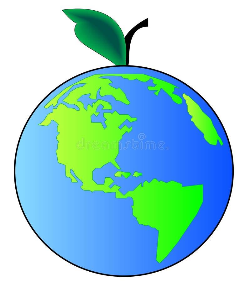 jabłko ziemi ilustracja wektor