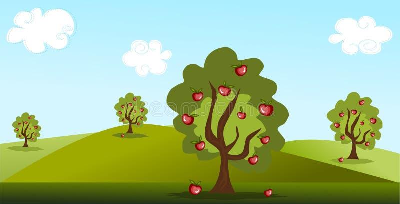 jabłonie ilustracji
