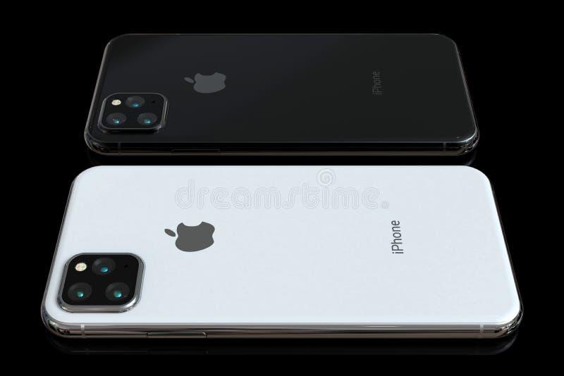 Jab?czana iPhone Xs nast?pca, 2019, plotkuj?ca projekt symulacja obraz royalty free