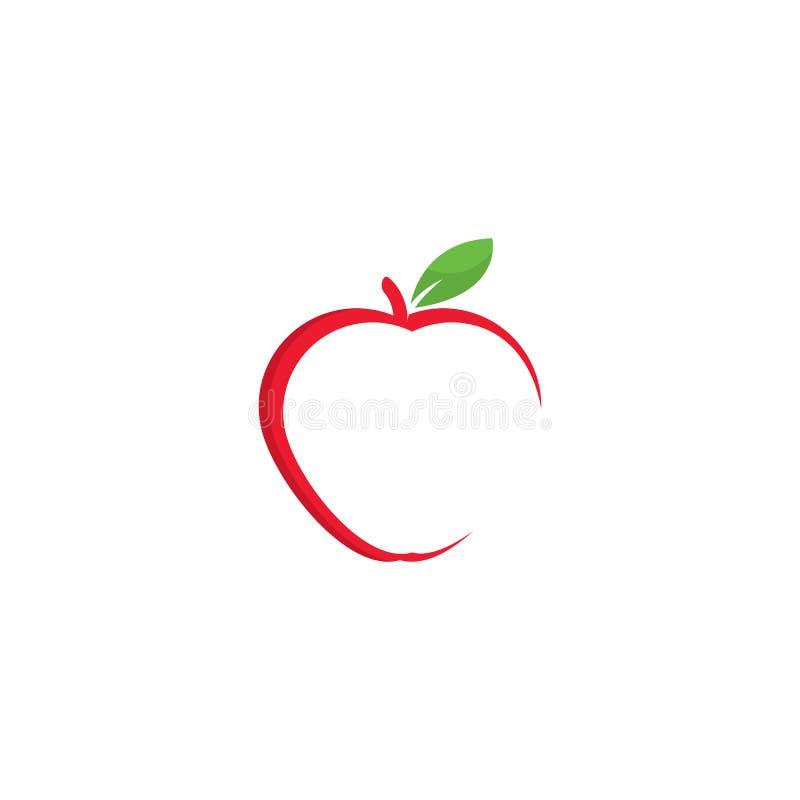 Jab?czana logo szablonu wektoru ilustracja royalty ilustracja