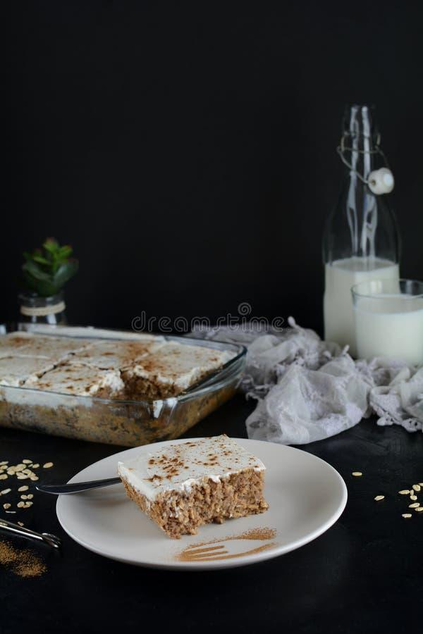 Jab?czanego kumberlandu tort z owies skorup? fotografia royalty free