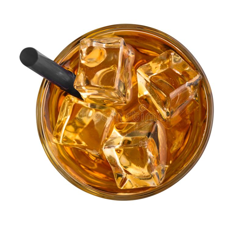 Jab?czany sok z lodem obraz royalty free