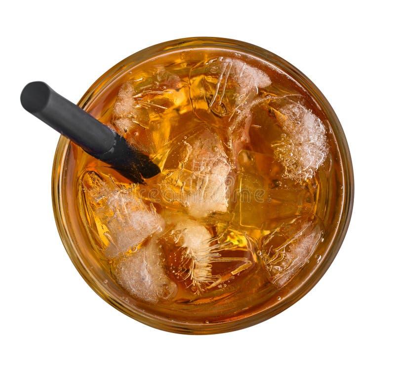 Jab?czany sok z lodem obraz stock