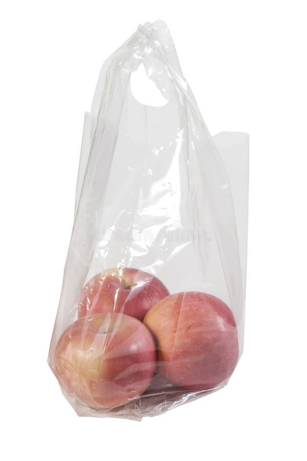 Download Jabłka w plastikowym worku obraz stock. Obraz złożonej z jedzenie - 53783473