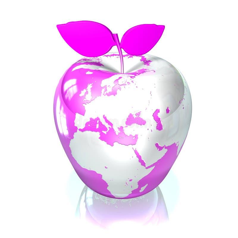Download Jabłko ziemia ilustracji. Obraz złożonej z owoc, odosobniony - 6513059