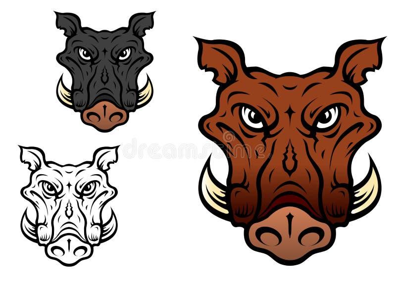 Jabalí o cerdo stock de ilustración
