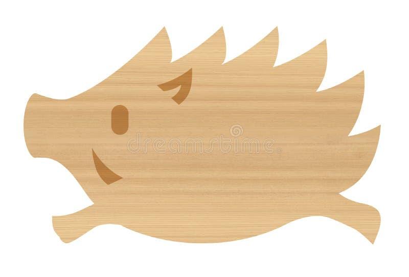 jabalís de madera libre illustration