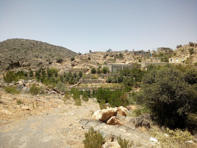 Jabal Akhdar, anuncio Dakhiliyah, Omán imagen de archivo