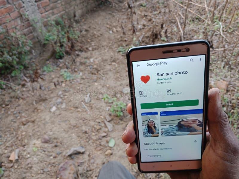 jabalpur, India - diciembre de 2019: Aplicación de citas en línea San Photo para administradores charlantes fotografía de archivo libre de regalías