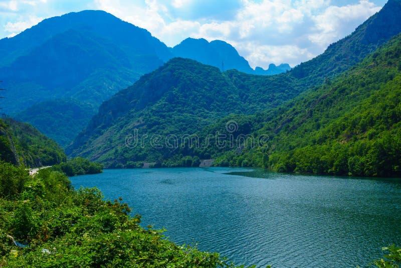 Jablanicko Lake, on the Neretva River. View of the Jablanicko Lake, on the Neretva River. Bosnia and Herzegovina royalty free stock photo