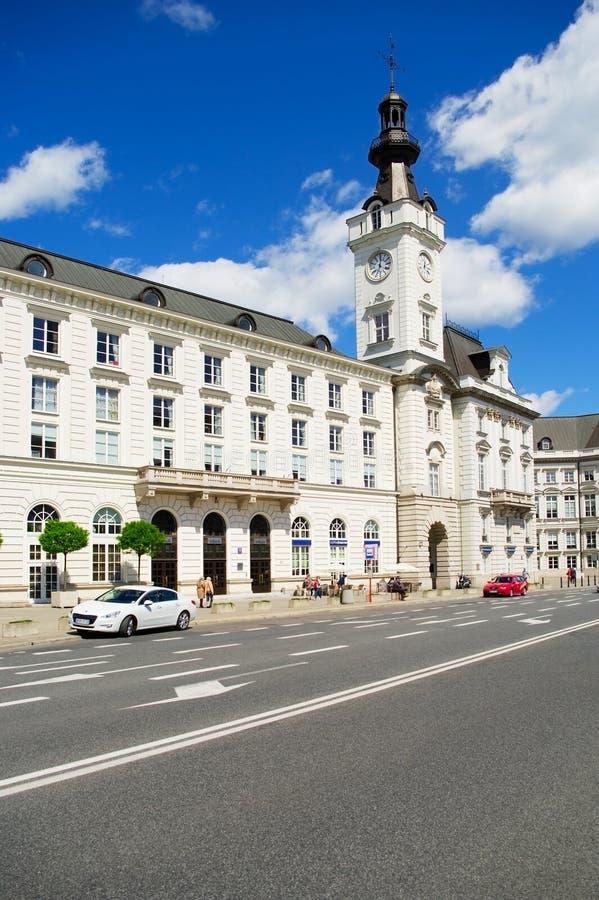 Jablonowski Palace in Warsaw, Poland stock image