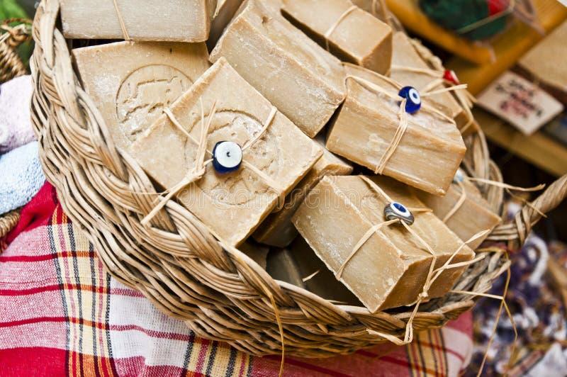 Jabones hechos a mano fotografía de archivo