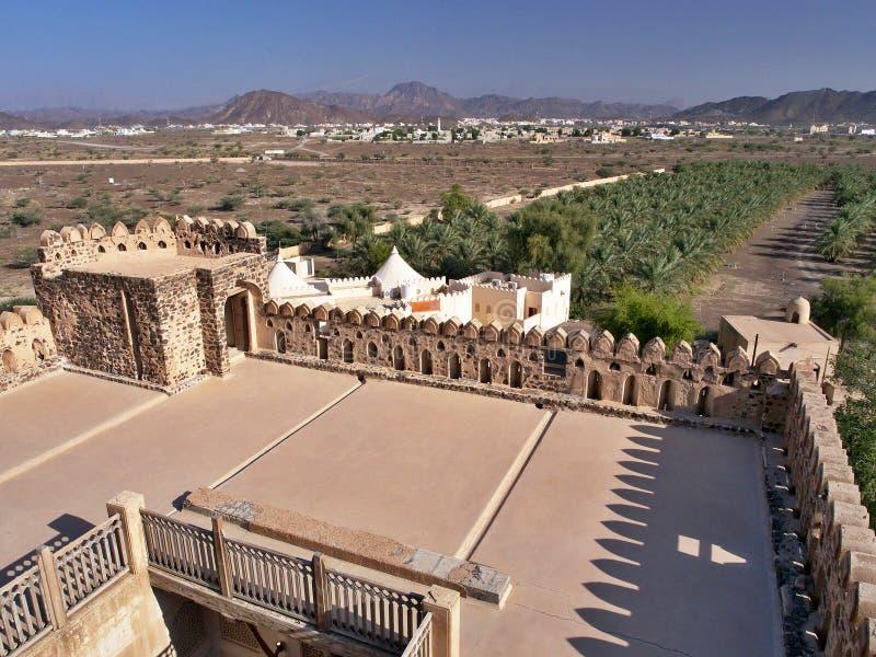 Jabrin - κάστρο και πόλη στο Ομάν στοκ εικόνες