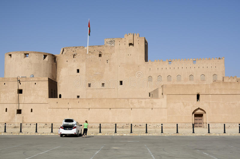 Jabrin Castle in Oman royalty free stock image