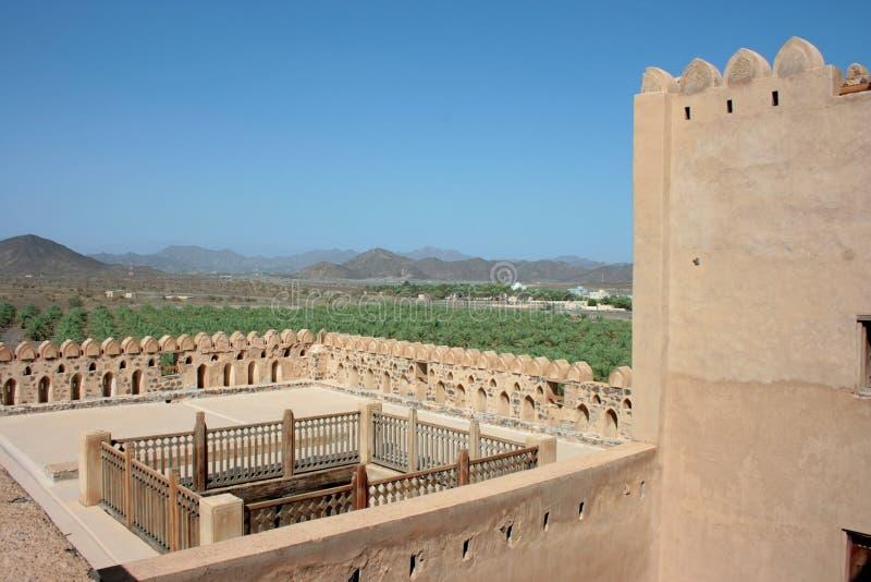 Jabrin Schloss, Oman lizenzfreies stockfoto