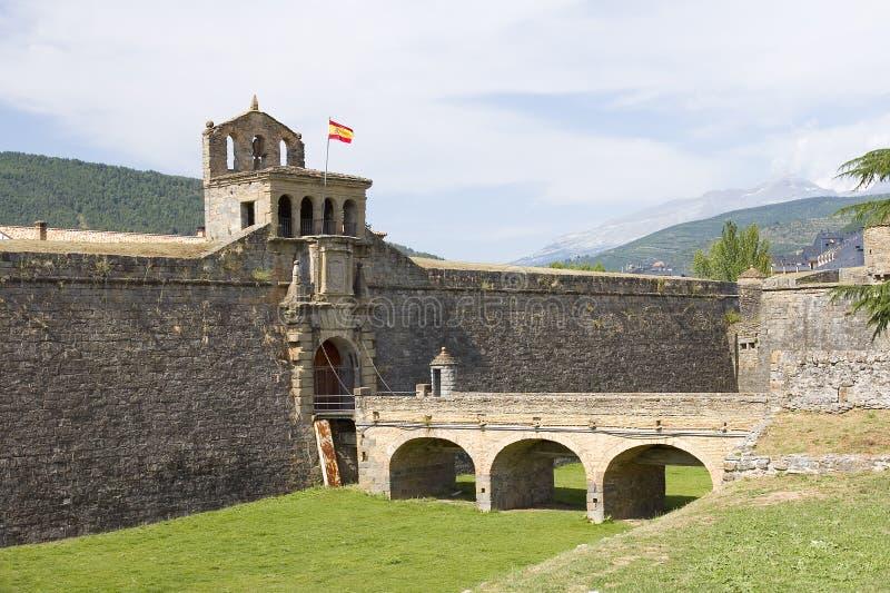 Jaca Spanien arkivfoto