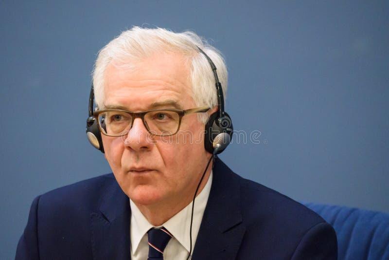 Jacek Czaputowicz, el Ministro de Asuntos Exteriores de Polonia fotos de archivo libres de regalías