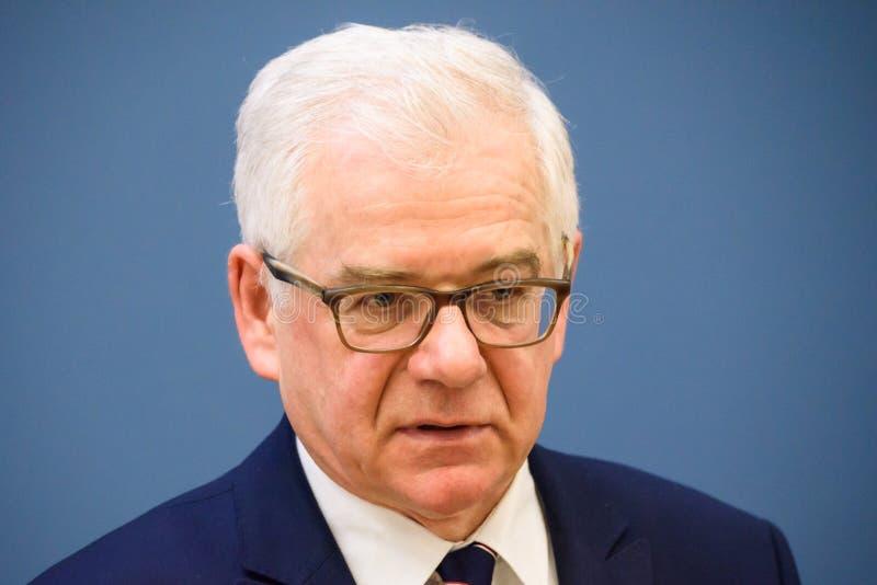 Jacek Czaputowicz, Ministro de Asuntos Exteriores de Polonia fotos de archivo