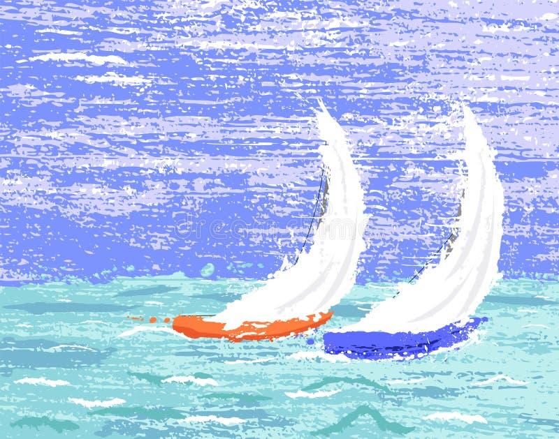 jachtów ilustracja wektor