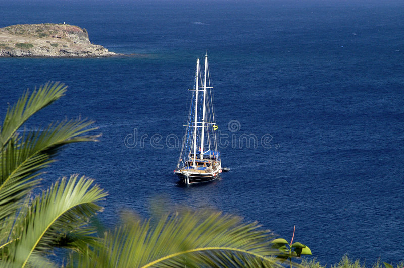 Jacht - Bodrum Turkije stock foto
