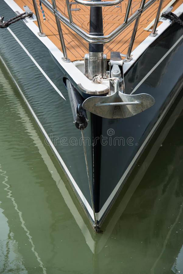 Jacht en anker royalty-vrije stock fotografie
