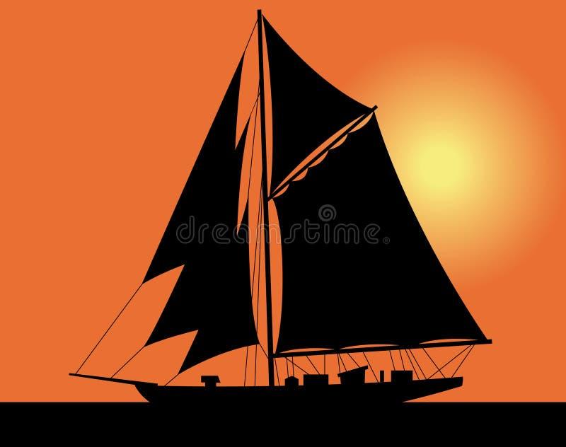 Jacht in het overzees vector illustratie