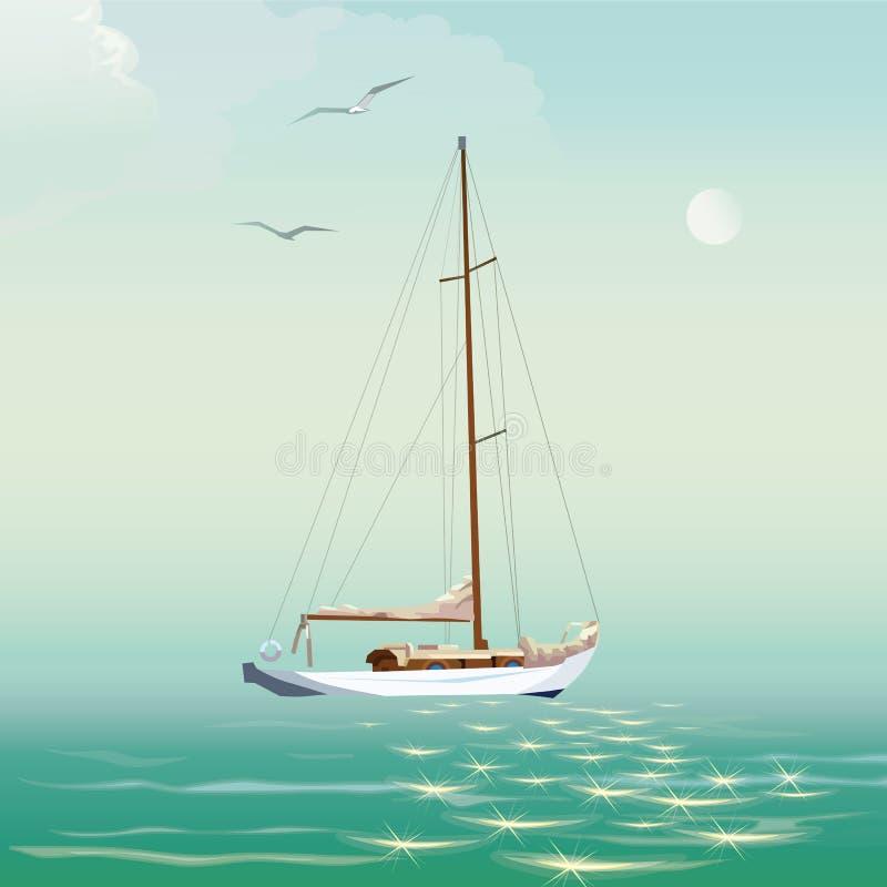 Jacht i morze obrazy royalty free