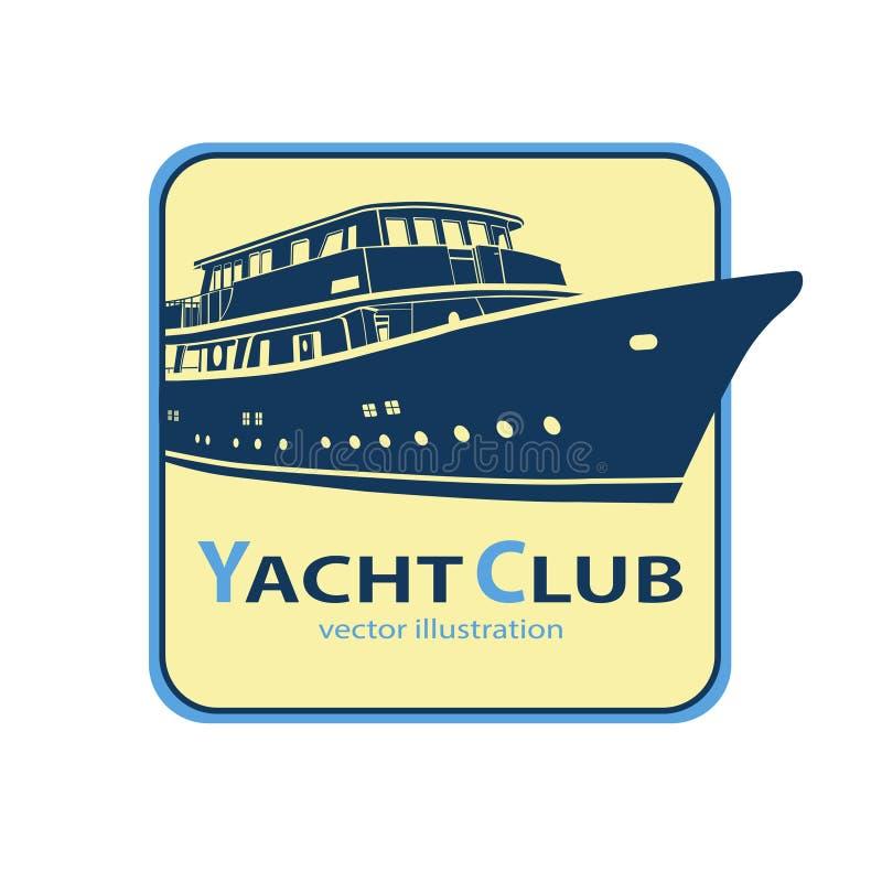 Jacht ikona, statku logo ilustracji