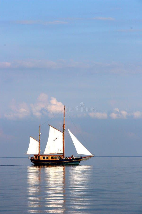 Jacht in Nida royalty-vrije stock foto